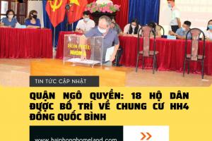 Quận Ngô Quyền: 18 hộ dân được bố trí về chung cư HH4 Đổng Quốc Bình