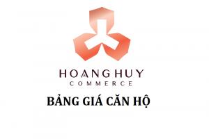 Hoàng Huy Commerce: Bảng giá gốc và cập nhật bảng bảng hàng căn hộ