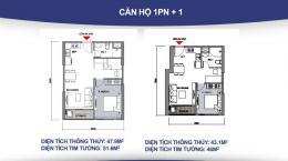 Căn hộ 1 + 1 phòng ngủ và những điều cần biết