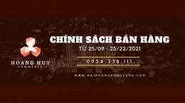 Hoàng Huy Commerce: Chính sách bán hàng mới nhất từ 25/09/2021