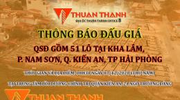 Thông báo đấu giá 51 lô tại Kha Lâm 3, Nam Sơn, Kiến An